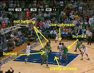 joe johnson torching C's