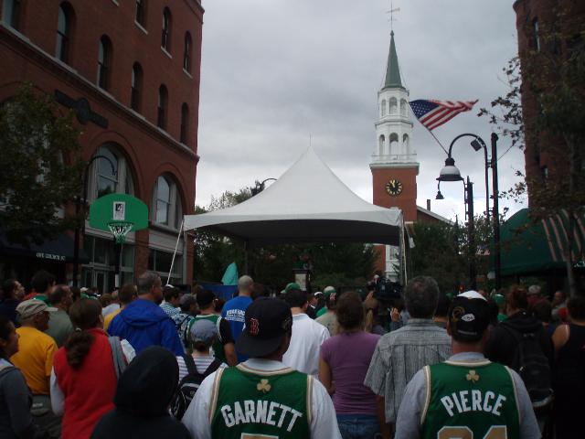 The crowd in Burlington, VT