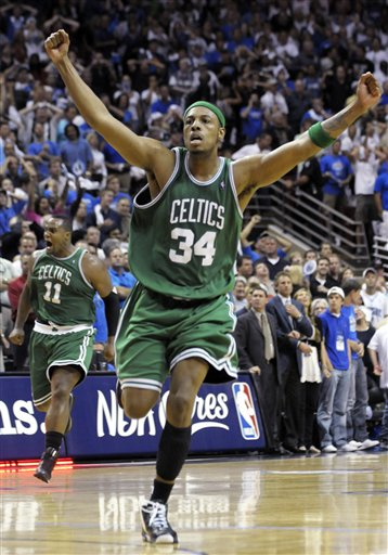 Pierce celebrates