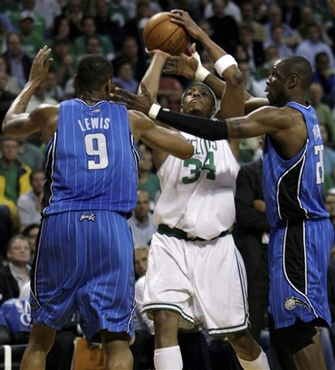 Pierce double teamed