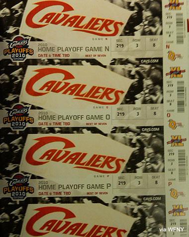 Cavs finals tickets