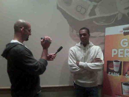 Me interviewing Rajon