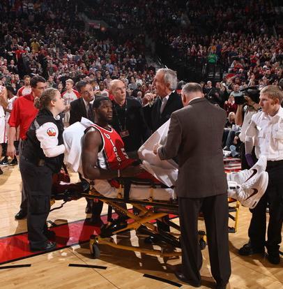 Oden on stretcher