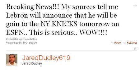 Dudley tweet
