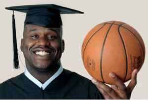 Shaq cap and gown
