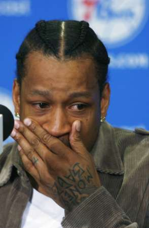 Iverson crying