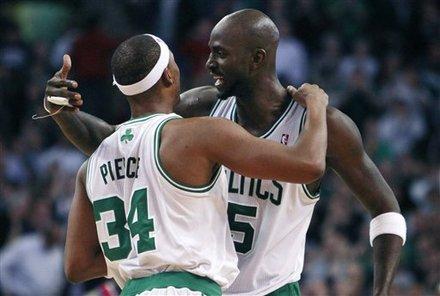 KG hugs Pierce