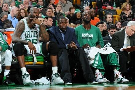 Shaq perk kg on the bench