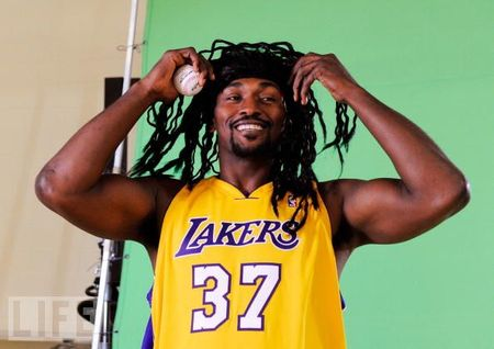 Artest crazy hair