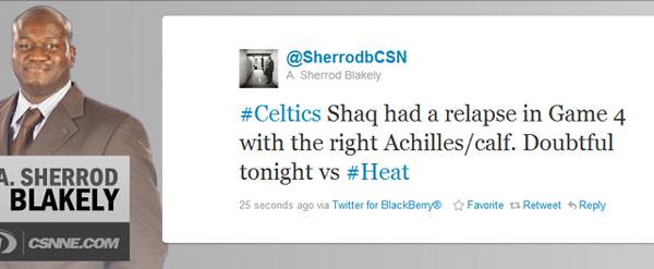 Sherrod shaq tweet