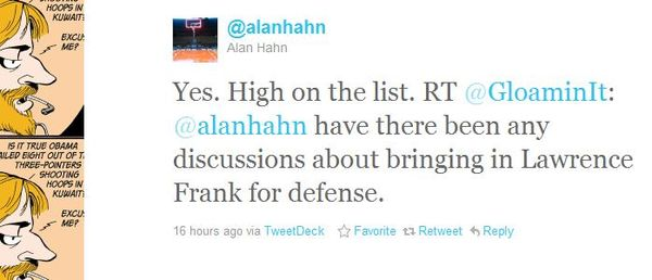Hahn tweet