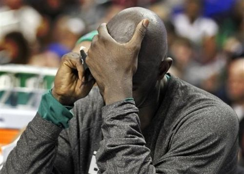 KG head in hand at Philly