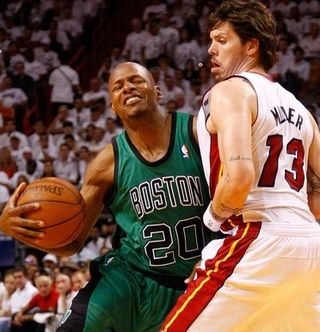 Ray allen against mike miller game 1