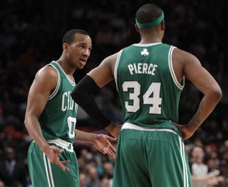 Avery bradley and Paul Pierce talking