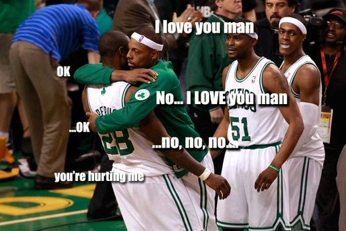 Paul Pierce hugging Pietrus captioned