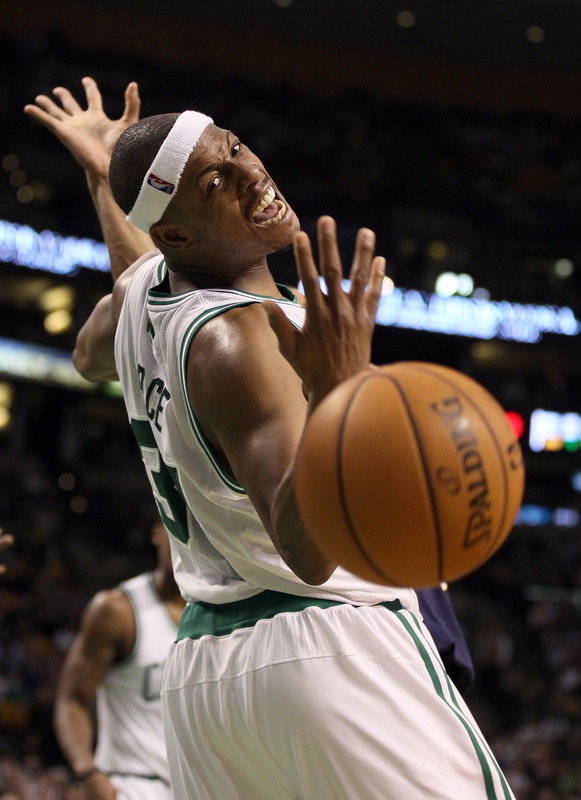 Paul pierce arms out while ball goes out of bounds